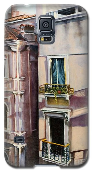 Galaxy S5 Case featuring the painting View From A Venetian Window by Marlene Book
