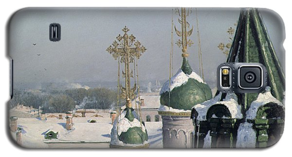 View From A Window Of The Moscow School Of Painting Galaxy S5 Case by Sergei Ivanovich Svetoslavsky