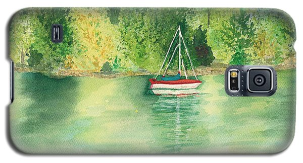 Galaxy S5 Case featuring the painting View From Millbay Ferry by Vicki  Housel