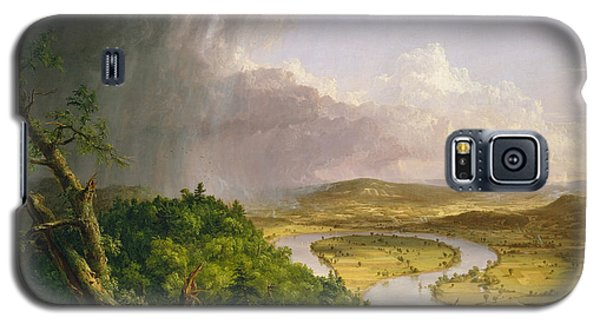 Galaxy S5 Case featuring the painting View From Mount Holyoke Northampton Massachusetts After A Thunderstorm. The Oxbow by Thomas Cole