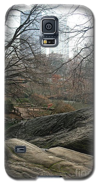Galaxy S5 Case featuring the photograph View From Rocks by Sandy Moulder