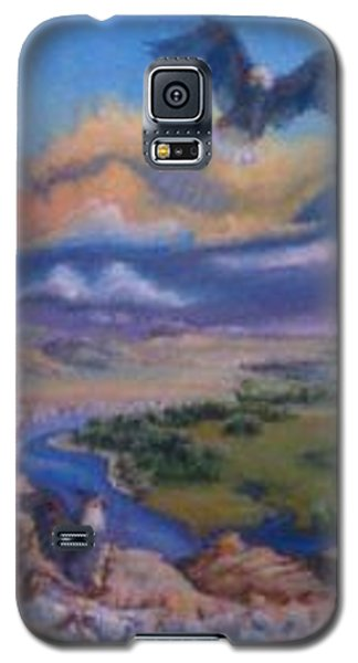 Galaxy S5 Case featuring the painting View From Sheep Rock by Dawn Senior-Trask