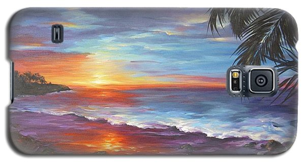 Galaxy S5 Case featuring the painting View From The Hammock  by Dina Dargo
