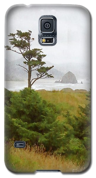 View Of Cannon Beach In The Fog Galaxy S5 Case