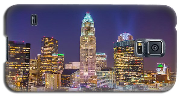 View Of Charlotte Skyline Aerial At Sunset Galaxy S5 Case