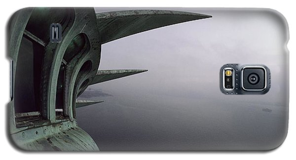 Statue Of Liberty Galaxy S5 Case - View Of New York Harbor From The Top by Paul Chesley