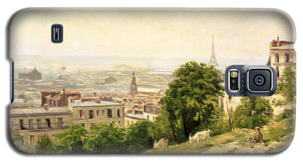 View Of Paris Galaxy S5 Case by Stanislas Victor Edouard Lepine