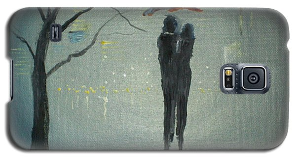 Galaxy S5 Case featuring the painting View Of The City by Raymond Doward