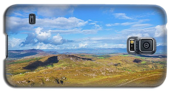 Galaxy S5 Case featuring the photograph View Of The Mountains And Valleys In Ballycullane In Kerry Irela by Semmick Photo