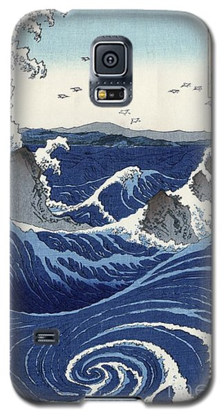 View Of The Naruto Whirlpools At Awa Galaxy S5 Case by Hiroshige
