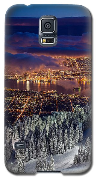 View Of Vancouver From Grouse Mountain At Sunset Galaxy S5 Case