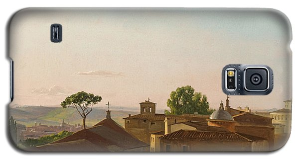 Galaxy S5 Case featuring the painting View On The Quirinal Hill. Rome by Simon Denis