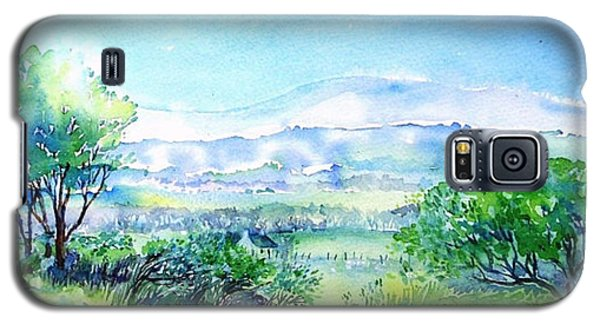 View Through The Gap,wicklow  Galaxy S5 Case by Trudi Doyle