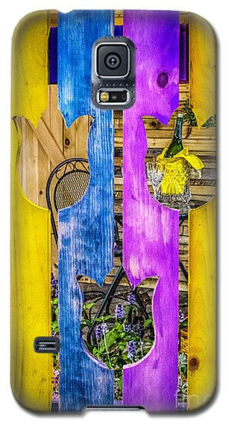 Galaxy S5 Case featuring the photograph View Thru The Fence by Nick Zelinsky