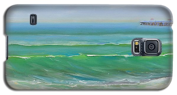 Galaxy S5 Case featuring the painting View To The Pier by Mary Scott