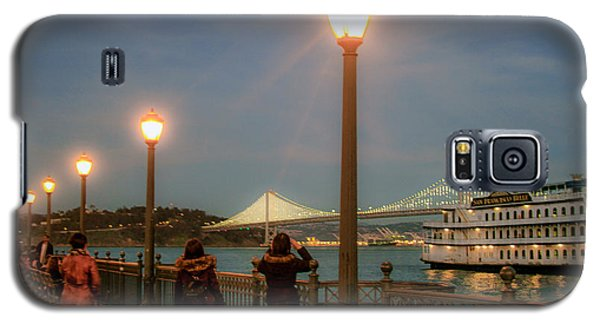 Viewing The Bay Bridge Lights Galaxy S5 Case