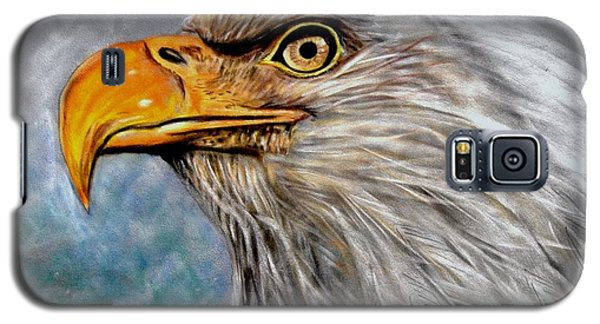 Galaxy S5 Case featuring the painting Vigilant Eagle by Patricia L Davidson