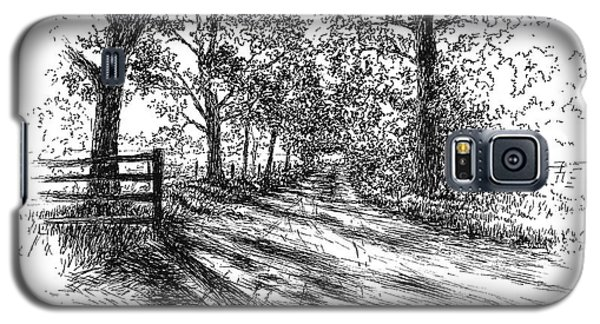 Villa Road At Sunset Galaxy S5 Case