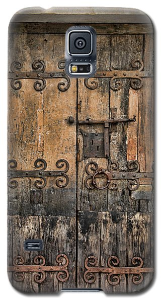 Village Chateau French Old Ancient Door Color  Galaxy S5 Case