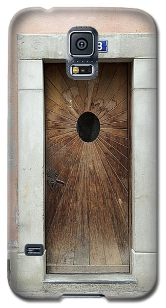 Galaxy S5 Case featuring the photograph Village Door Surrounded By Peach by Colleen Williams
