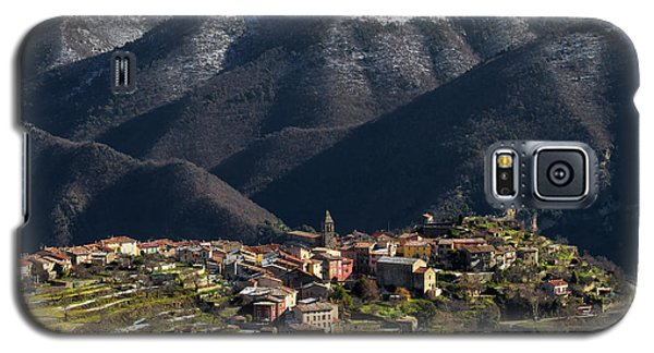 Galaxy S5 Case featuring the photograph Village Of Utelle by Carl Amoth
