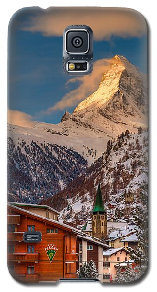 Village Of Zermatt With Matterhorn Galaxy S5 Case