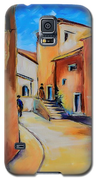 Village Street In Tuscany Galaxy S5 Case