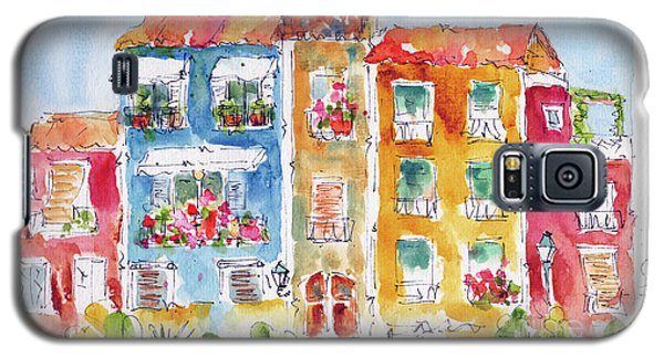 Galaxy S5 Case featuring the painting Villajoyosa Spain by Pat Katz