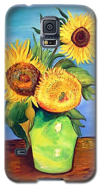 Vincent's Sunflowers Galaxy S5 Case by Patricia Piffath