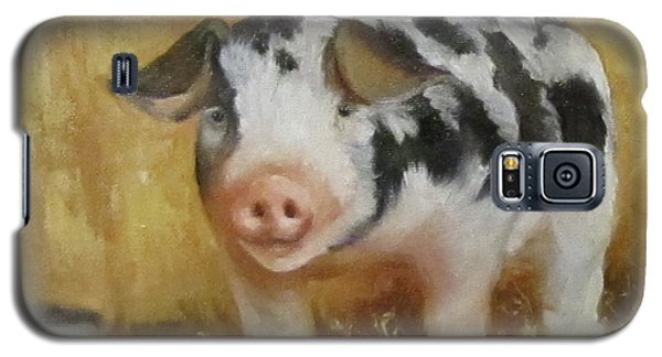 Galaxy S5 Case featuring the painting Vindicator The Spotted Pig by Cheri Wollenberg
