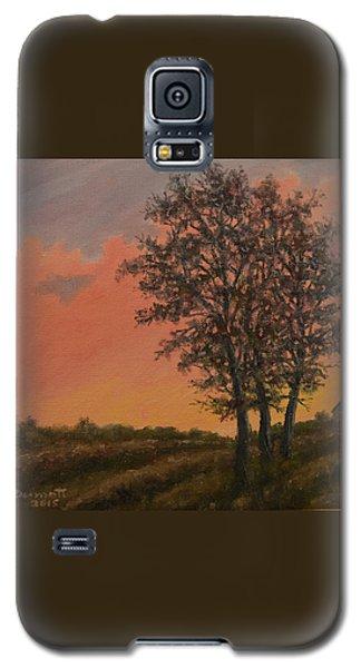 Galaxy S5 Case featuring the painting Vineyard Sundown by Kathleen McDermott