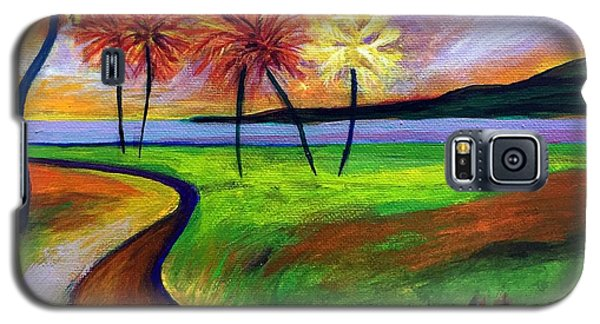 Vinoy Park In Purple Galaxy S5 Case by Elizabeth Fontaine-Barr