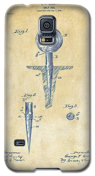 Vintage 1899 Golf Tee Patent Artwork Galaxy S5 Case by Nikki Marie Smith