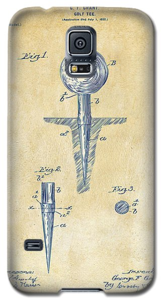 Vintage 1899 Golf Tee Patent Artwork Galaxy S5 Case