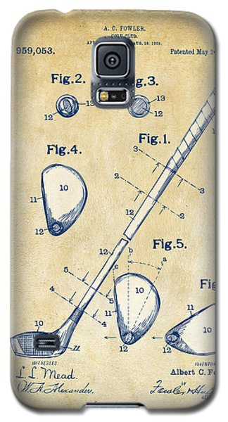 Vintage 1910 Golf Club Patent Artwork Galaxy S5 Case by Nikki Marie Smith