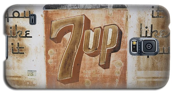 Galaxy S5 Case featuring the photograph Vintage 7 Up Sign by Christina Lihani