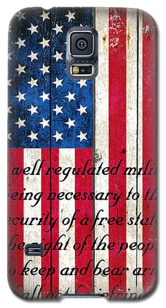Vintage American Flag And 2nd Amendment On Old Wood Planks Galaxy S5 Case