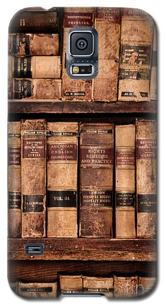Galaxy S5 Case featuring the photograph Vintage American Law Books by Jill Battaglia