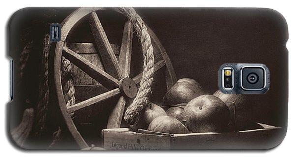 Galaxy S5 Case featuring the photograph Vintage Apple Basket Still Life by Tom Mc Nemar