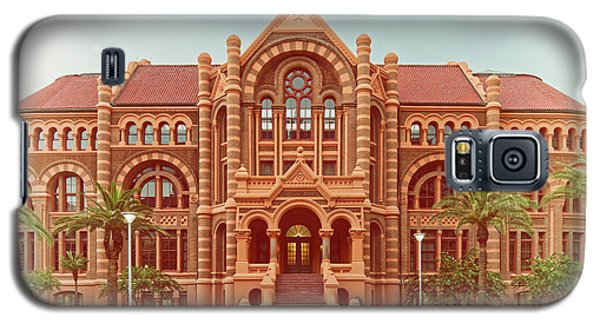Vintage Architectural Photograph Of Ashbel Smith Old Red Building At Utmb - Downtown Galveston Texas Galaxy S5 Case