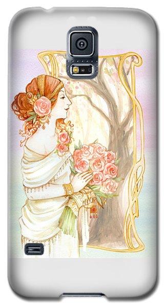 Vintage Art Nouveau Flower Lady Galaxy S5 Case