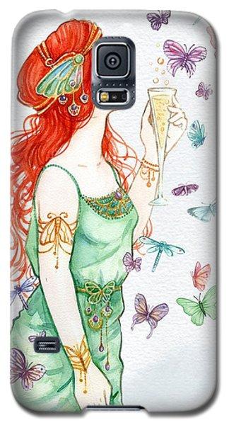 Vintage Art Nouveau Lady Party Time Galaxy S5 Case
