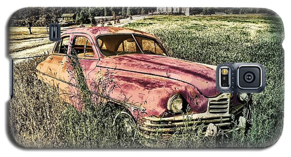 Vintage Auto In A Field Galaxy S5 Case