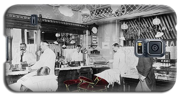 Vintage Barbershop 4 Galaxy S5 Case by Andrew Fare