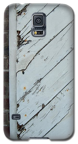 Vintage Barn Door And Red Brick Galaxy S5 Case by Jani Freimann