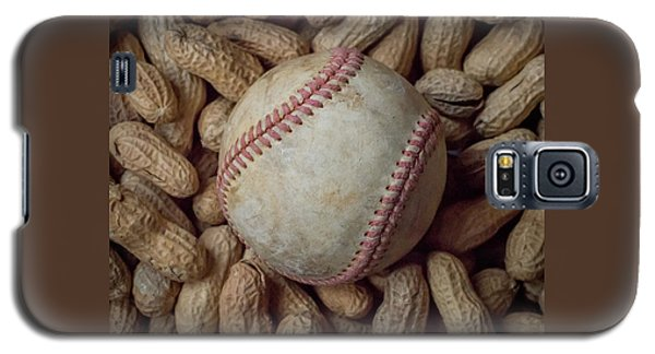 Galaxy S5 Case featuring the photograph Vintage Baseball And Peanuts Square by Terry DeLuco
