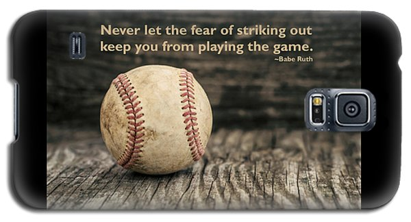 Vintage Baseball Babe Ruth Quote Galaxy S5 Case
