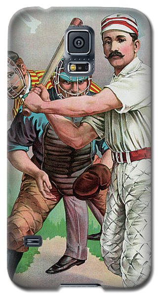 Softball Galaxy S5 Case - Vintage Baseball Card by American School