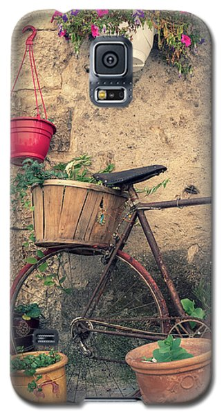 Vintage Bicycle Used As A Flower Pot, Provence Galaxy S5 Case
