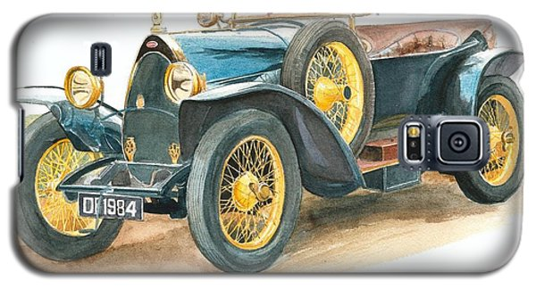 Vintage Blue Bugatti Classic Car Galaxy S5 Case
